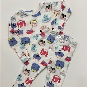 Gap Cats and Dogs 2 Piece Pajamas Size 2T